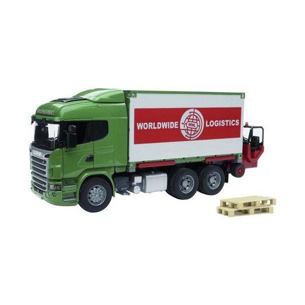 •Lastvogn med container og truck