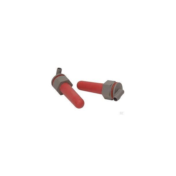 Kalvesut 2 stk. rød kpl med ventiler og omløbere
